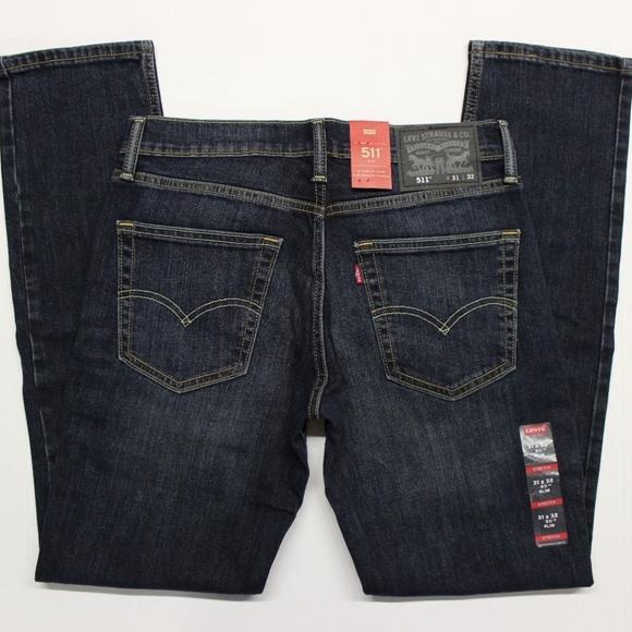 a763cf36342 Levi's Jeans | Mens Levis 511 Slim Fit Stretch Blue 31x32 | Poshmark